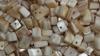 Edelsteinsplitter gebohrt Perlmutt
