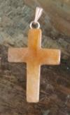 Kreuzanhänger Zitrinquarz